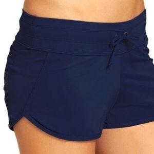 Athleta Kata Swim Shorts Blue XL Great Condition